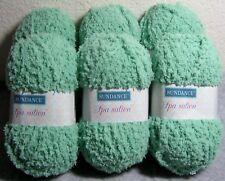 """Lot of 6 Balls: Sundance Spa-sation Soft & Fluffy #4 Yarn - """"Botanical"""" (Green)"""