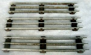 """LIONEL - 8 PIECES  - 9"""" STRAIGHT TRACK - Circa 1970's - FAST SHIPPING!"""