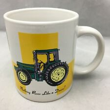 John Deere Coffee Mug Green Yellow Tractor White Ceramic Cup Licensed By Gibson