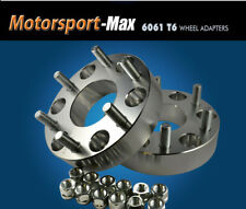 "2 Wheel Adapters 6x4.5 To 6x5.5   6 Lug Chevy Toyota Rims on 6 Lug Dakota 1"""