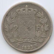 Louis XVIII (1814-1824) 2 Francs argent 1823 W Lille