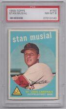 1959 TOPPS STAN MUSIAL PSA GRADED 8 NM-MT #150 BASEBALL CARD #07013140