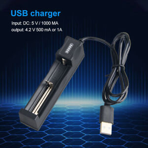 18650 3.7V Rechargeable intelligent USB Battery Charger with LED indicator