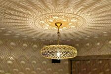 Handmade Moroccan Ceiling Lamp, Bedroom Lamp Lighting Brass-Copper