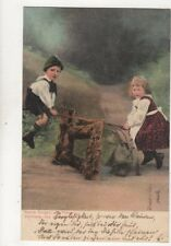 Children On See Saw Germany 1904 Postcard 235b