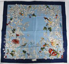 Gucci Women's Blue Silk Wondergarden Large Scarf 494602 4868