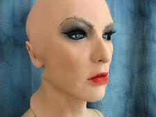 Latexmaske SCARLETT B +WIMPERN Frauenmaske Gummimaske Frau Trans Crossdresser