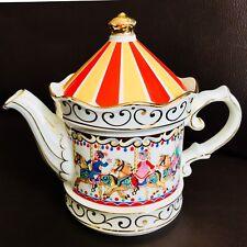"Collector's Registered Design Sadler Edwardian Entertainments ""Carousel"" Teapot"