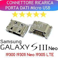 x 2 PEZZI CONNETTORI RICARICA Micro USB x SAMSUNG GALAXY S3 I9300 S3 I9301I NEO