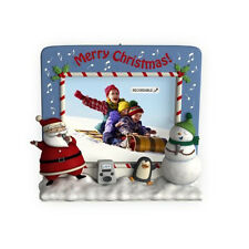 North Pole Karaoke 2009 Hallmark Magic Ornament Music Santa Claus Snowman Family
