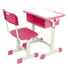 Durable Sturdy And Safe Adjustable Students Children Desk And Chairs Set Pink Us