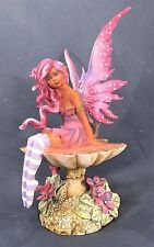 Magenta Fairy on Mushroom Fantasy Decor Figurine