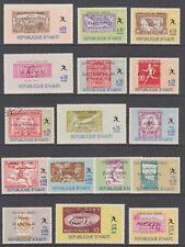 Haiti Sc 616-616Q MNH. 1969 Olympic Winners cplt incl perf & imperf Souv Sheets