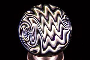 Jsg-justinsglass, Wigwag Marble, handmade glass marble, art/gift