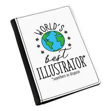 World's Best Illustrator Passport Holder Cover Case Funny Favourite Designer