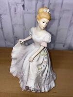 Vintage Homco Home Interiors Masterpiece Porcelain Lady Caroline 1993 Figurine