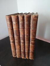 """.Victor Hugo """"Les Misérables"""" sans éditeur ni date 5 volumes reliés"""