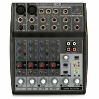 Behringer Xenyx 802 Mixer 4-ch Mixer - Two Xenyx Mic Preamps Two Stereo Chanenls