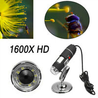 3in 1 1600X Zoom HD 1080P USB Digital Microscope Endoscope Video Camera Portable