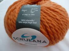 Grandino  Schulana 100g Fb 26 orange  für Mützen, Schals .....