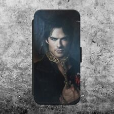 THE VAMPIRE DIARIES DAMON IAN  FLIP WALLET PHONE CASE COVER FOR iPhone SAMSUNG
