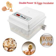 Small Egg Hatcher Machine 16 Eggs Digital Auto turner Incubators  Double Power