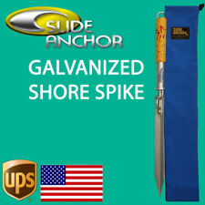 Slide Anchor SHORE SPIKE STAKE suits Boats up to 30 feet  *FREE STORAGE BAG*
