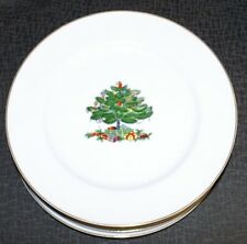 D.H. HOLMES CHRISTMAS TREE PLATES SET OF 6 - FREE SHIPPING