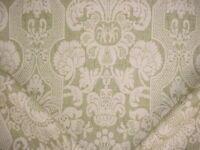 6-3/4Y Lee Jofa 990132 Croome Damask Olive Printed Linen Upholstery Fabric