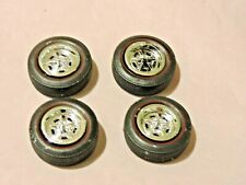 Model Car Parts Amt 60's Style Red Wall Tires and 69 Plymouth Gtx Wheels 1/25