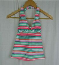 NWT Old Navy Striped Halter Tankini Swim Suit Top Women's Size XS