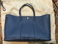 Brand New Hermes Garden Party 36 Bag Bleu Agate Negonda Leather