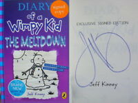 Signed Book Diary of a Wimpy Kid Meltdown by Jeff Kinney Hdbk 1st Edn 2018