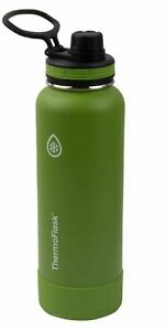 Thermo Flask Insulated Water Bottle with Protective Silicone Bumper 40oz / 1.2L