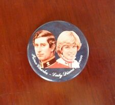 Prince Charles & Lady Diana Macaroon - Pin Back Buttom - 2¼""