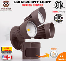 30W Black Brown White Motion Sensor Activated ETL DLC LED Outdoor Security Light
