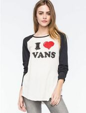 78e4765292 I LOVE Vans Women s S HATTERAD Raglan T-Shirt-WHITE BLACK BASEBALL LONG  SLEEVE