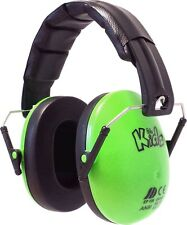 EDZ Kidz Ear Defenders Noise Protectors Adjustable Kids Childrens Toddler Baby Green