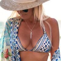 Fashion Full Moon Eclipse Pendant Women Bohemia Summer Necklace Jewelry Gift
