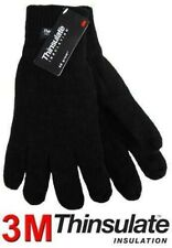 MENS THERMAL THINSULATE KNITTED FULL FINGER GLOVES WINTER WARM WOOLLY MITTS COLD
