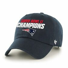New England Patriots Super Bowl LI Champions  47 Brand Navy Blue Clean Up  Hat 4262a4d65