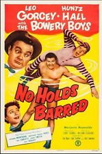 1952 Movie Poster, Bowery Boys. No Holds Barred. One Sheet 27 X 41. Linen Back