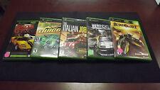 Xbox Racing Lot!  6 Great Games! Juiced, Wreckless, Bloodwake, Sega GT & More!