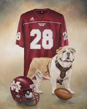 Mississippi State Bulldogs Print  14x18