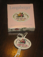 1999 Longaberger Pottery Mother's Day Tea for Two Basket Tie On Nib Usa
