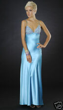 NWOT Sean Couture Turquoise Beaded Gown SZ Large  Turquoise (Blue)