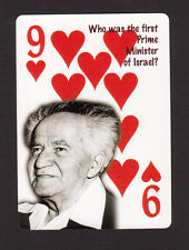 David Ben Gurion First Prime Minister of Israel Neat Playing Card #9Y4