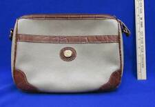 Carryland Purse Bag Leather Should Strap Brown Tan Zipper Pocket Alligator Style