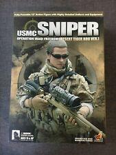 "Hot Toys 1/6 Scale 12"" USMC Sniper Operation Iraqi Freedom Desert Tiger Figure"