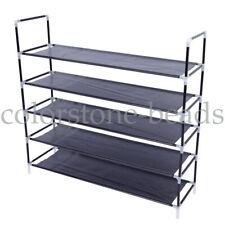 5 Tier Shoes Rack Stand Storage Organizer Fabric Shelf Holder Stackable Closet